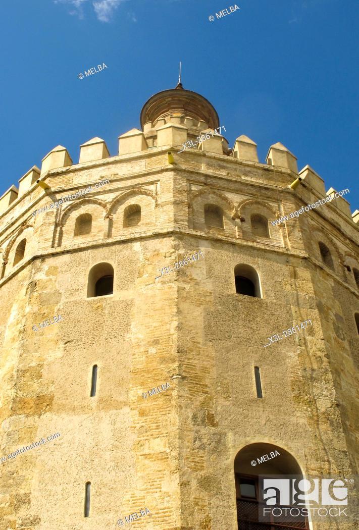 Stock Photo: Torre del Oro. Seville. Andalusia. Spain.