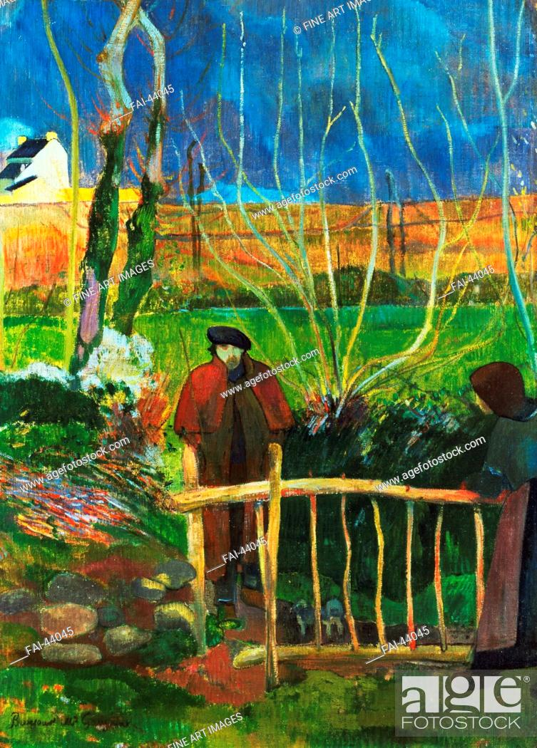 Stock Photo: Bonjour Monsieur Gauguin by Gauguin, Paul Eugéne Henri (1848-1903)/Oil on canvas/Postimpressionism/1889/France/Hammer Museum Los Angeles/74, 9x54.
