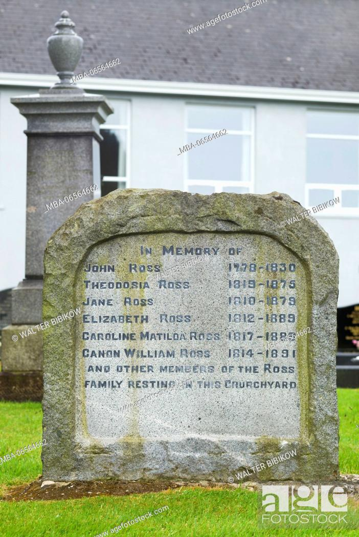 Stock Photo: UK, Northern Ireland, County Londonderry, Limavady, home of the composer of Danny Boy, Jane Ross, 1810-1879, gravesite.