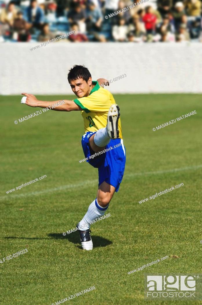 Stock Photo: Goal Kick.