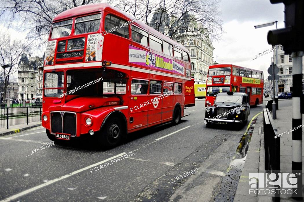 Stock Photo: Buses-London.
