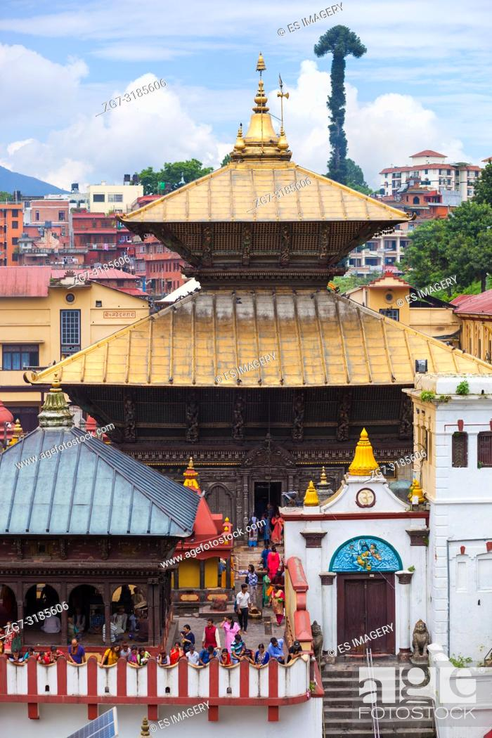Imagen: Pashupatinath, a very sacred Hindu temple complex in Kathmandu, Nepal.