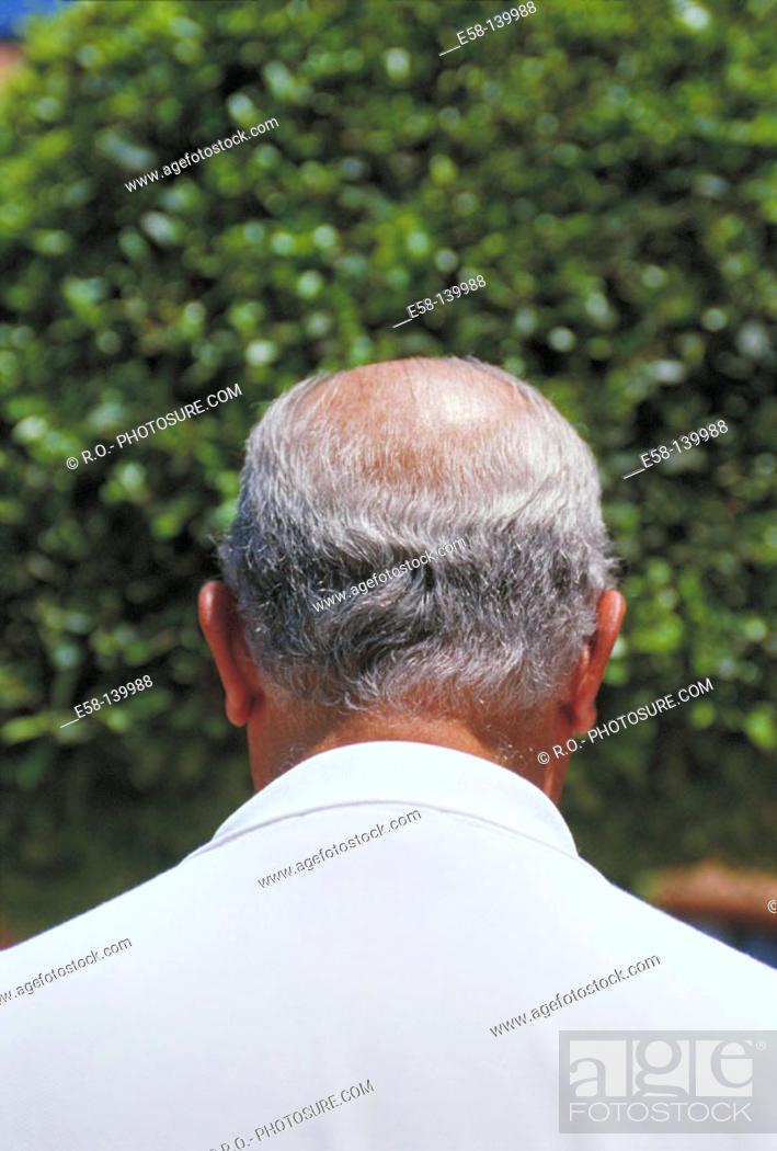 Stock Photo: Man's head.