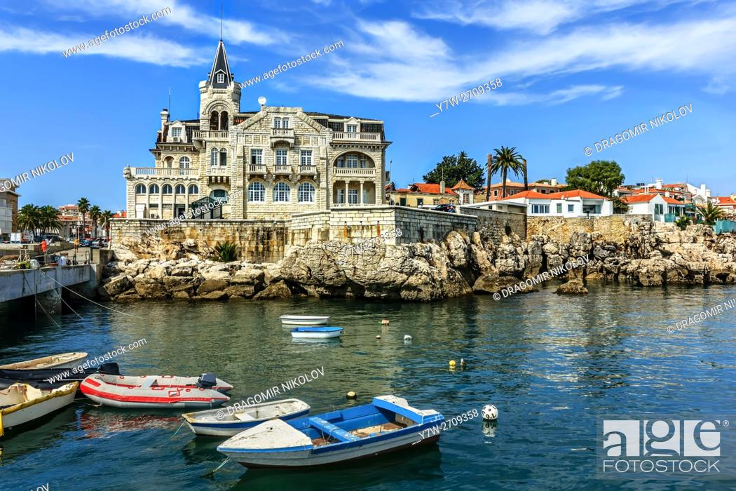 Stock Photo: View of Cascais waterftont near Lisbon in Portugal.