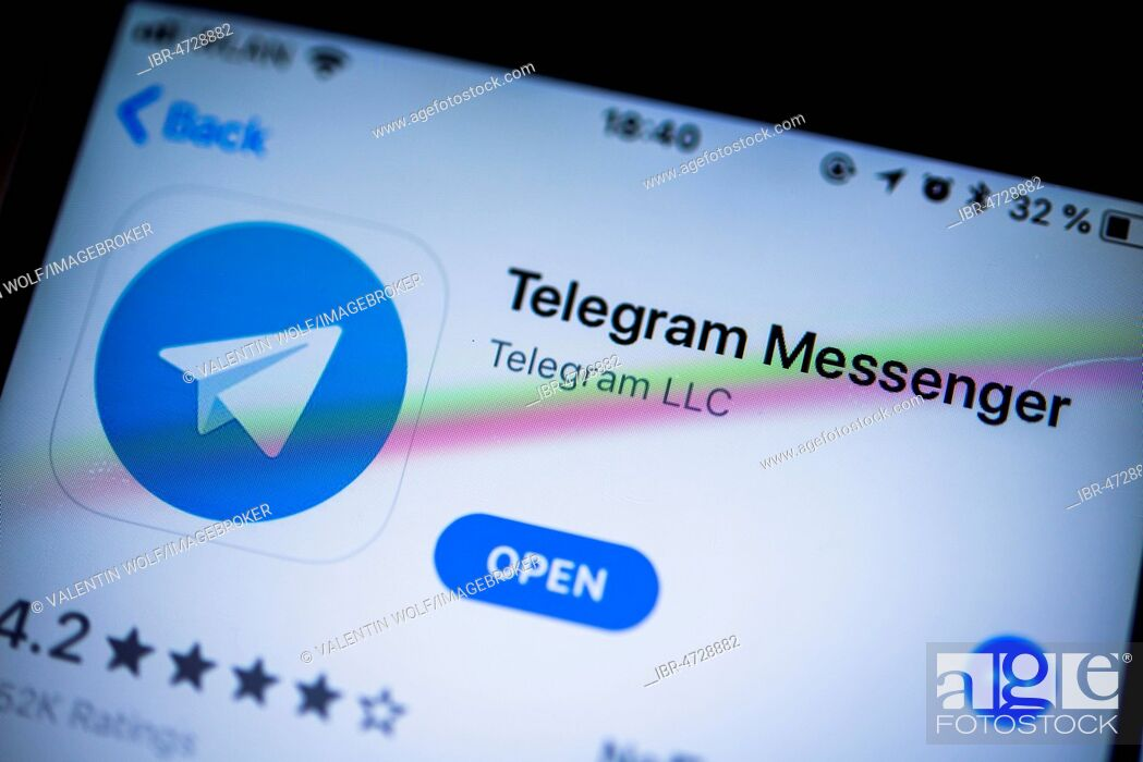 Telegram Messenger Instant Messenger App In The Apple App Store App Icon Display Iphone Ios Stock Photo Picture And Rights Managed Image Pic Ibr 4728882 Agefotostock