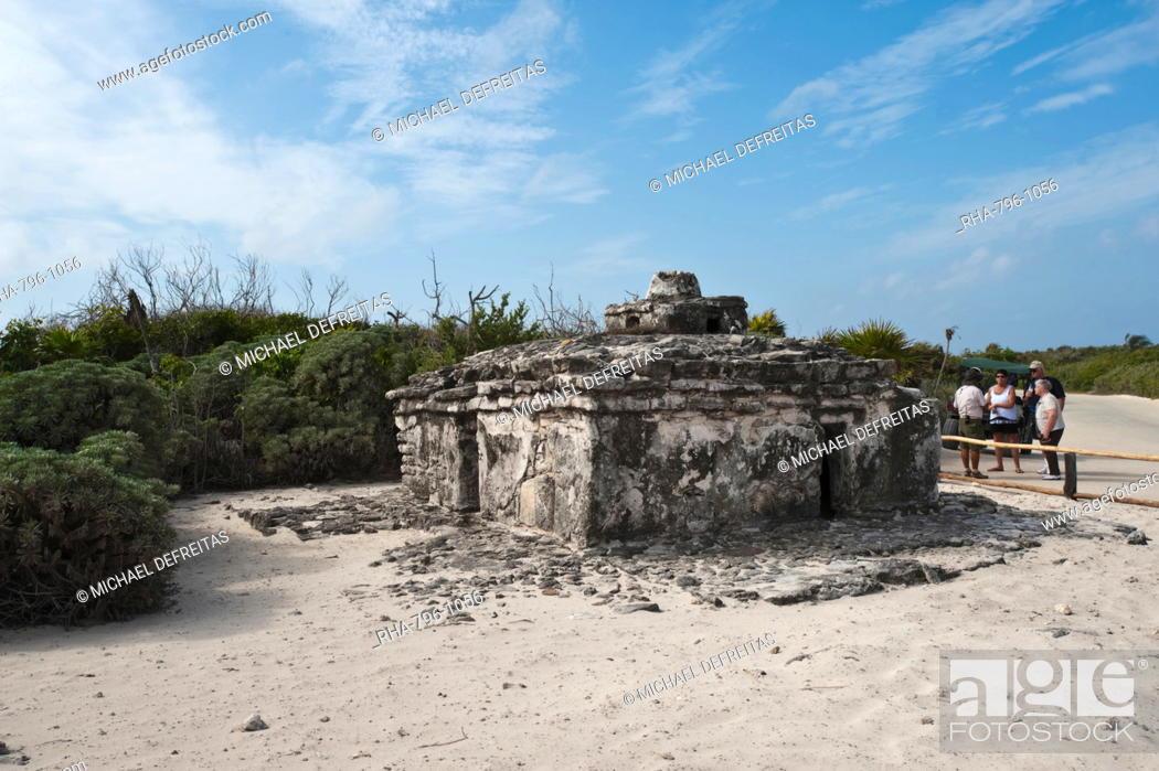 Stock Photo: Old Maya ruins, Punta Sur Park, Isla de Cozumel Cozumel Island, Cozumel, off the Yucatan, Quintana Roo, Mexico, North America.