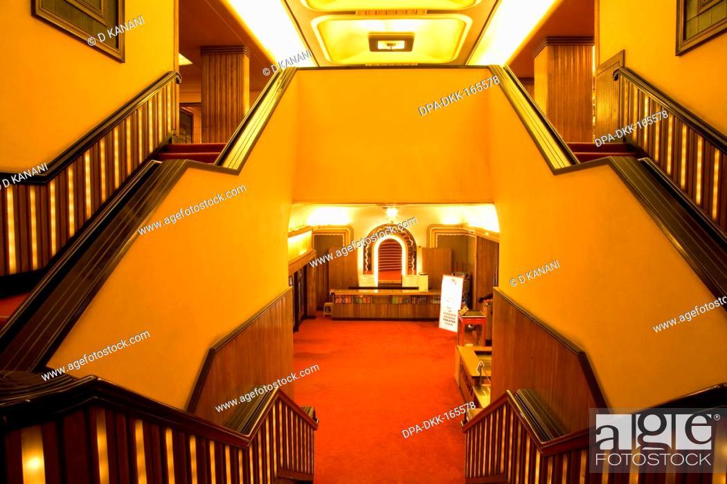 Stock Photo: Interior of liberty theatre ; Bombay Mumbai ; Maharashtra ; India.