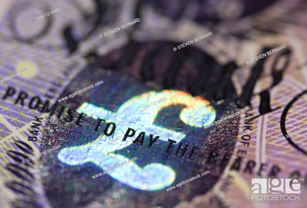 Stock Photo: British twenty pound bank note.