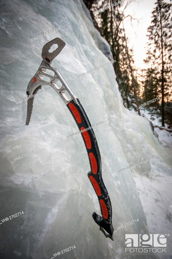 Stock Photo: Ice tool. Piolet. Rjukan. Norway.