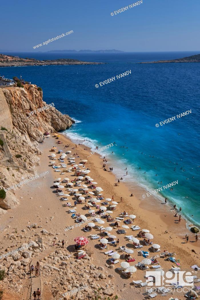 Stock Photo: The number one beach in Turkey, Kaputas beach in turquoise coast.