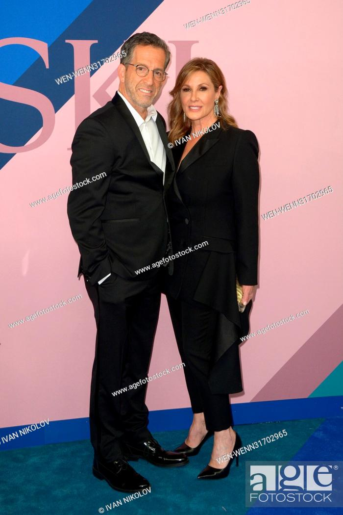 Stock Photo: 2017 CFDA Awards at Hammerstein Ballroom - Red Carpet Arrivals Featuring: Kenneth Cole, Maria Cuomo Where: New York, New York.
