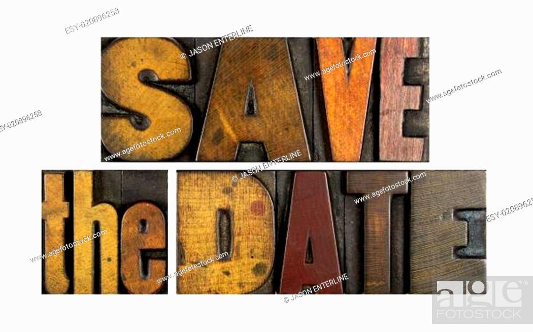 Stock Photo: Save the Date.