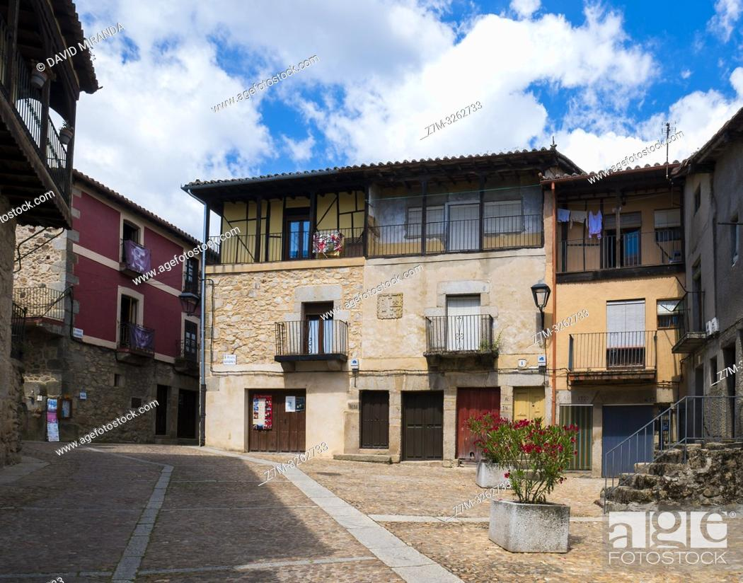 Imagen: Arquitectura tradicional. Miranda del Castañar. Sierra de Francia. Salamanca. Castilla León. España.