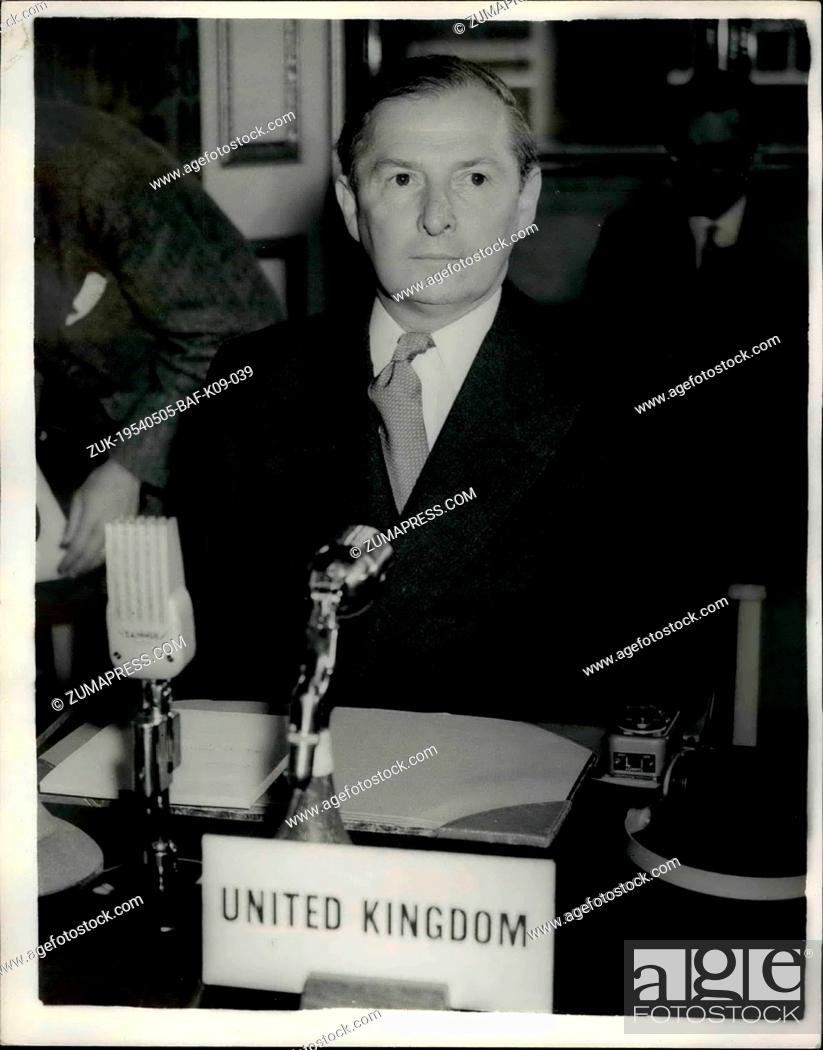May 05 1954 H Talks Start In London D Legates From Britain The