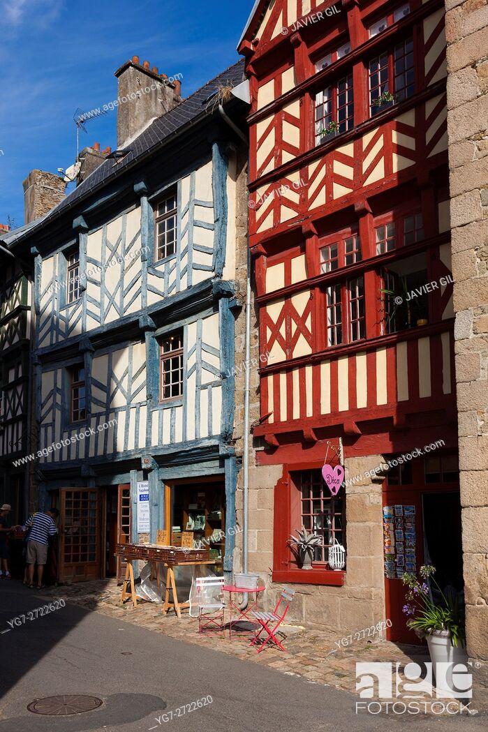 Stock Photo: Architecture of Treguier, Cotes d'armor, Bretagne, France.