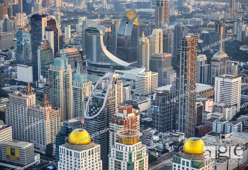 Imagen: Thailand, Bangkok City, Down town Bangkok panorama.