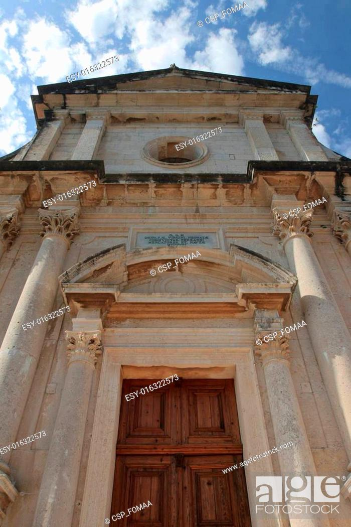 Stock Photo: Church Birth of Our Lady in town Prcanj, Montenegro.