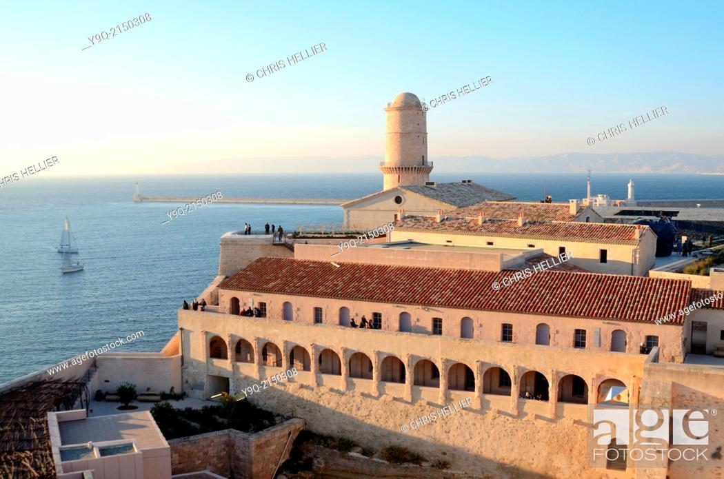 Stock Photo: Fort Saint Jean Marseille Provence France.