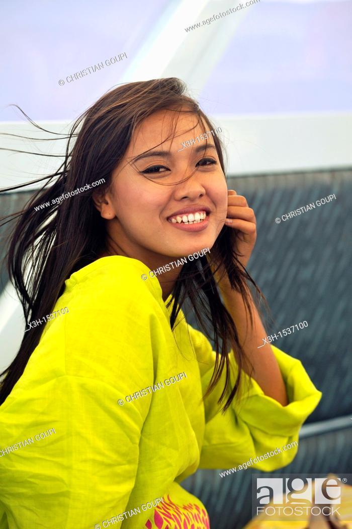 Stock Photo: Young Thai woman Krabi, Thailand, Asia.