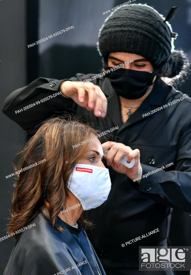 Actress Gerit Kling Gets Her Hair Done