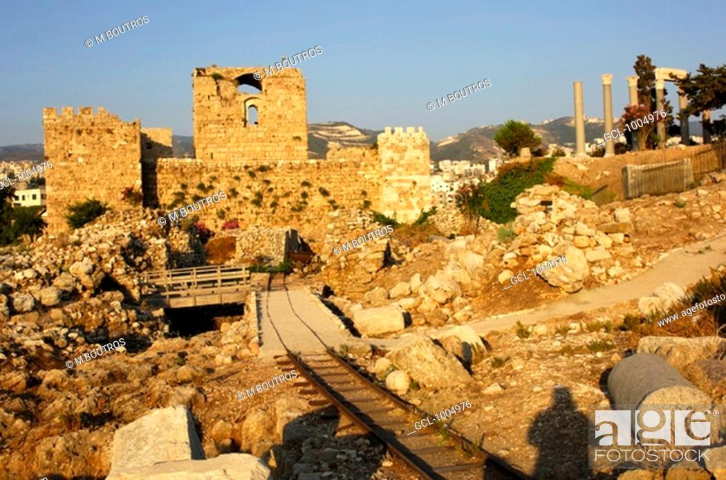 Stock Photo: Byblos fortress, Lebanon.