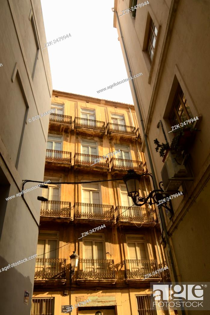Stock Photo: Building view in Valencia, Spain.