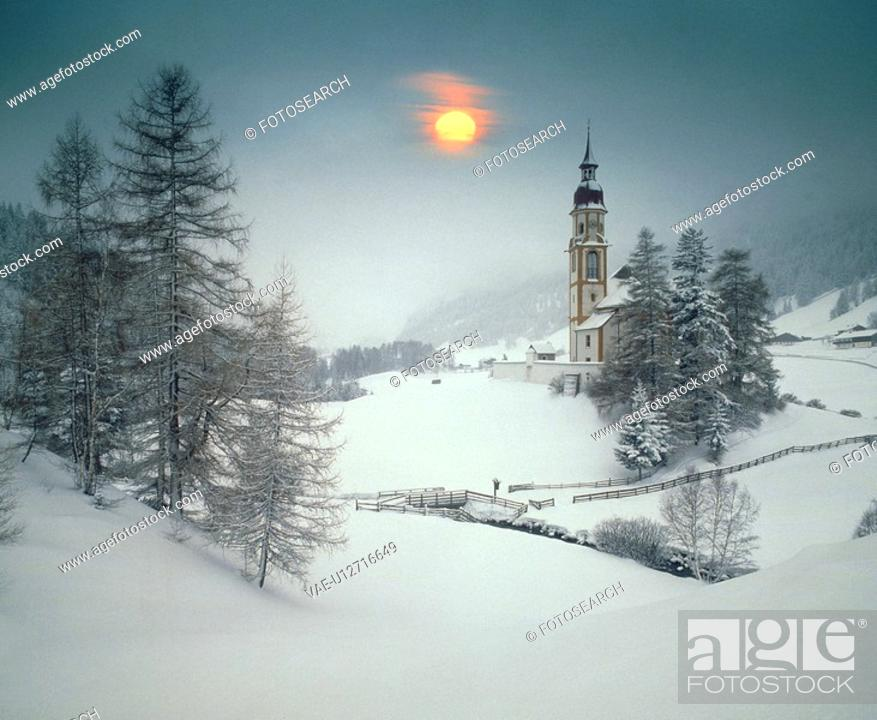 Stock Photo: Snowy landscape.