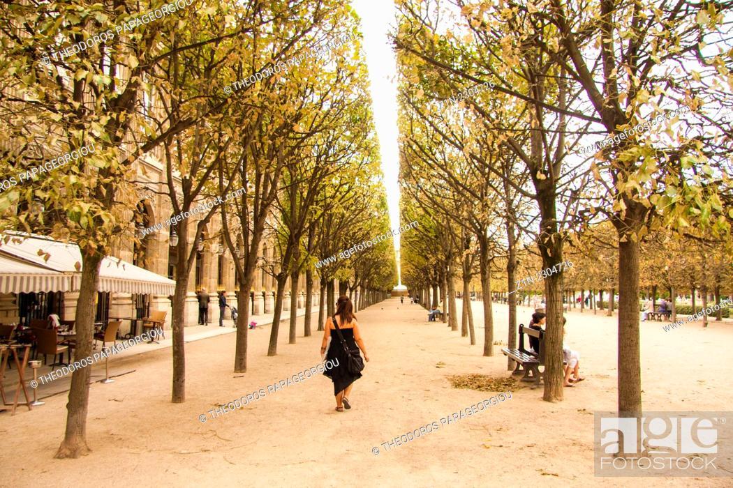 Stock Photo: The Jardin du Palais Royal, Paris, France.