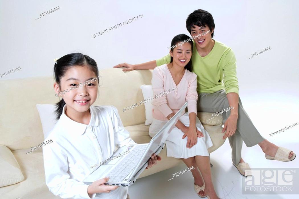 Stock Photo: Korean Family.