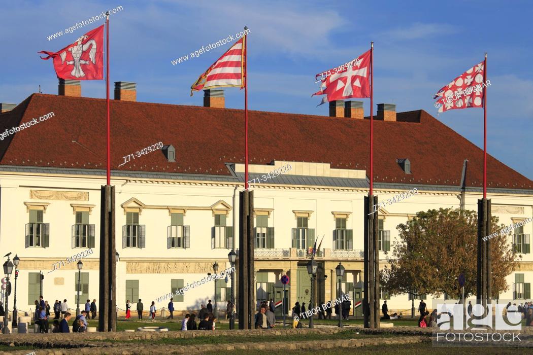 Stock Photo: Hungary; Budapest; Sandor Palace, President's residence.