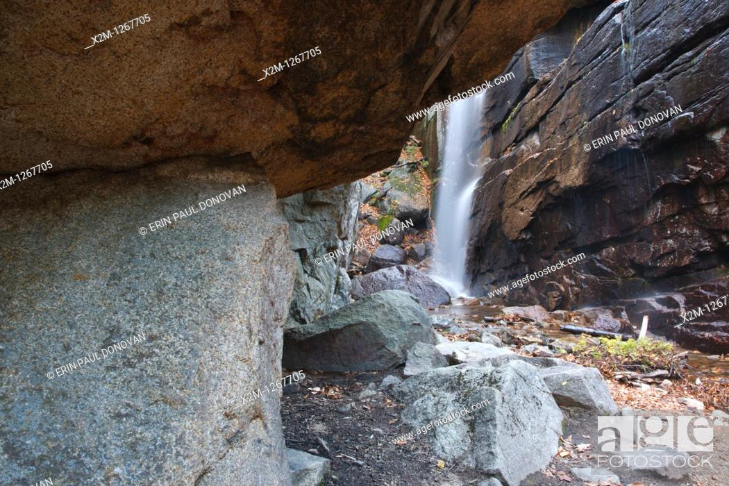 Stock Photo: Pitcher Falls during the autumn months in Albany, New Hampshire USA  This waterfall is located on Champney Brook next to Champney Falls Trail.
