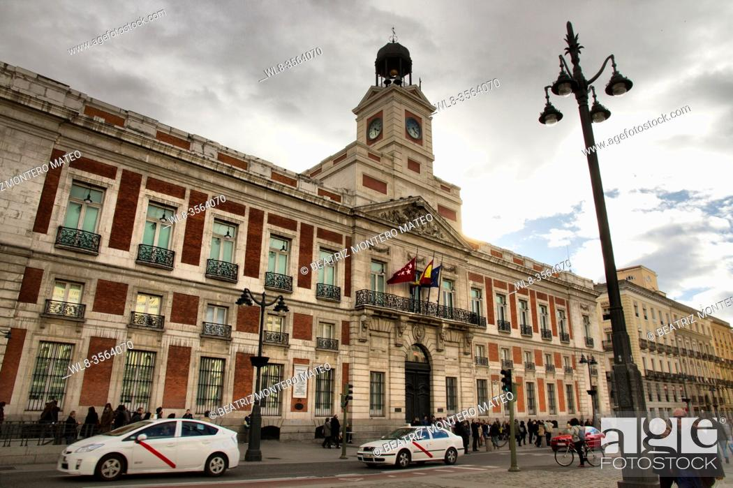 Stock Photo: Puerta del Sol in the center of Madrid, Spain.