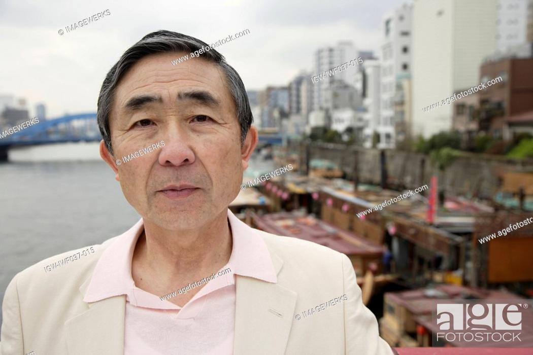 Stock Photo: Close-up of a contemplative senior man.