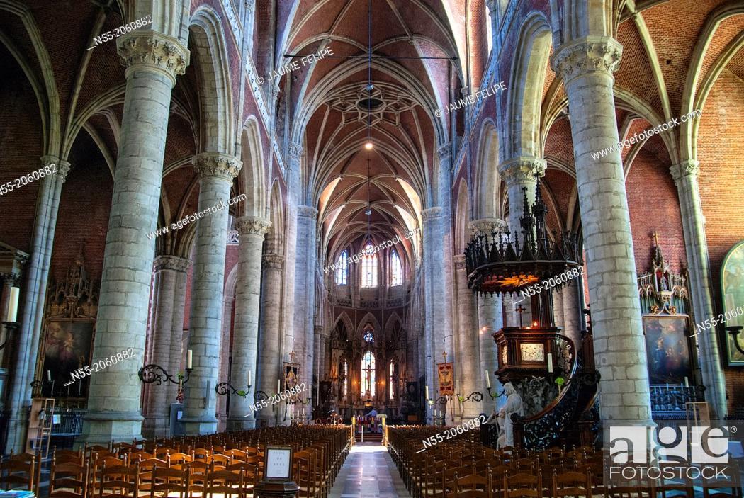 Stock Photo: Interior of Sint-Baafs Cathedral (XVI Century). Ghent, West Flanders, Belgium.