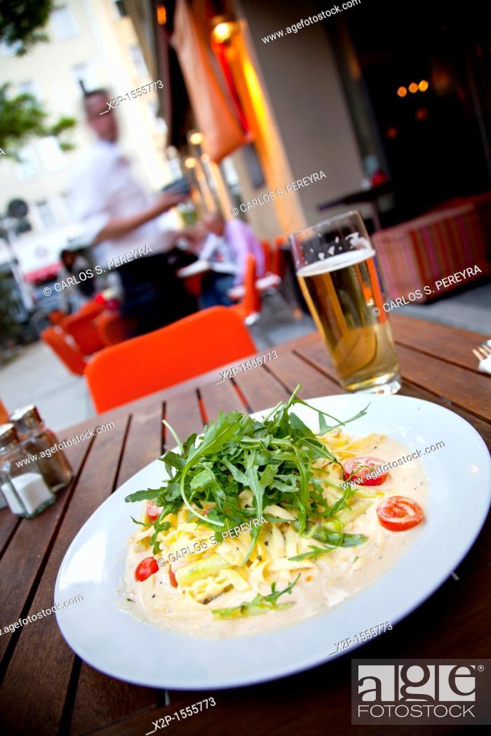 Stock Photo: ZeitGeist Restaurant in Maxvorstadt, Munich, Germany,.