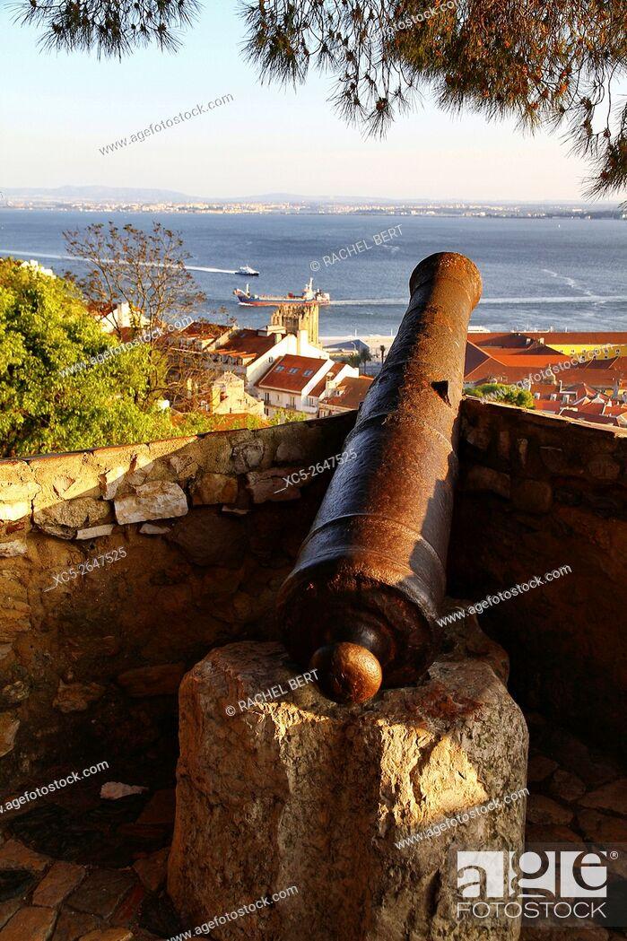 Stock Photo: View from Saint Jorge castle, Lisbon, Portugal.