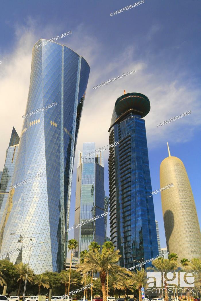 Stock Photo: Doha Skyline, Qatar.