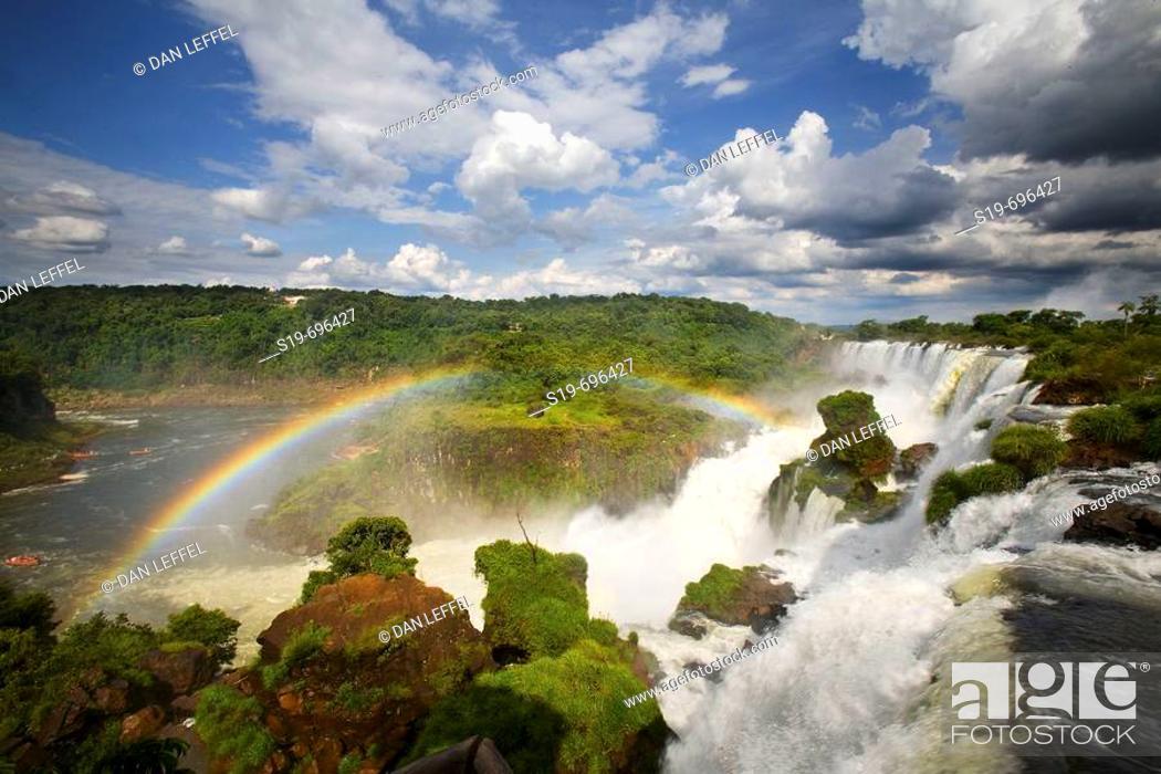 Stock Photo: Iguazu Falls. Argentina-Brazil border.