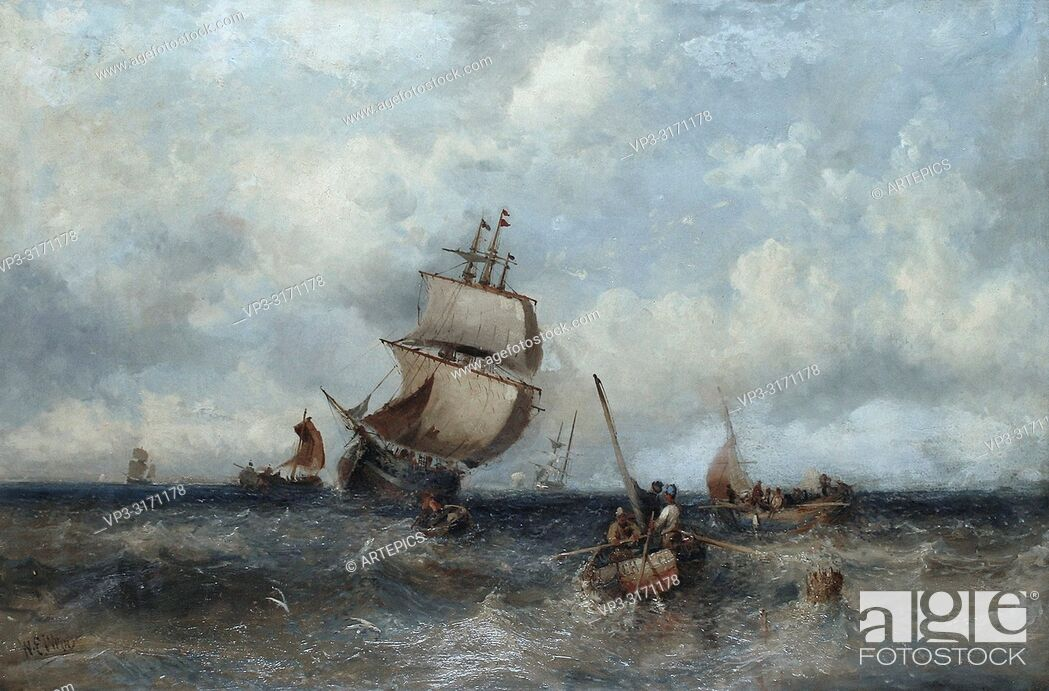 Stock Photo: Webb William Edward - off to the Fishing Grounds.