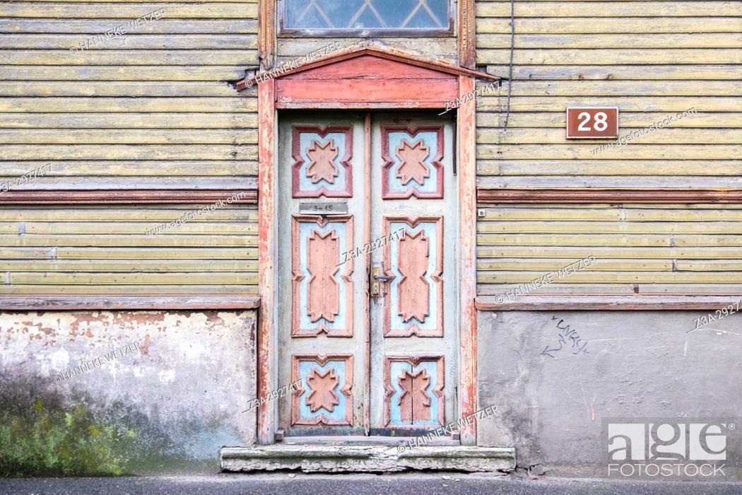 Stock Photo: Traditional house in the Kadriorg neighborhood of Tallinn, Estonia, Europe.