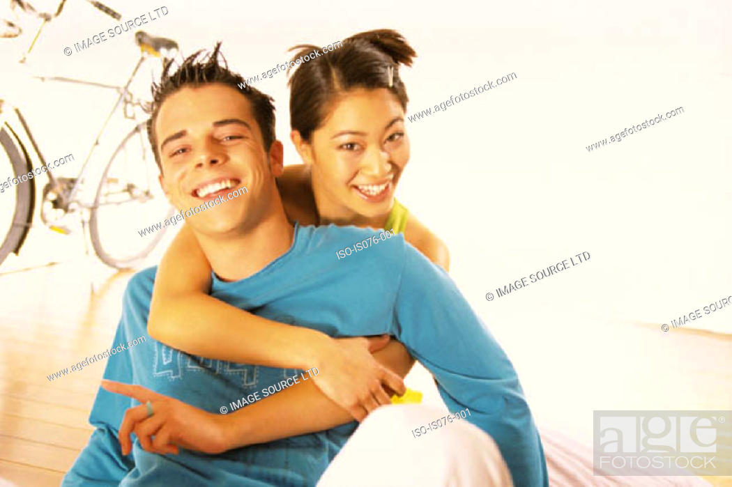 Stock Photo: Teenage couple.