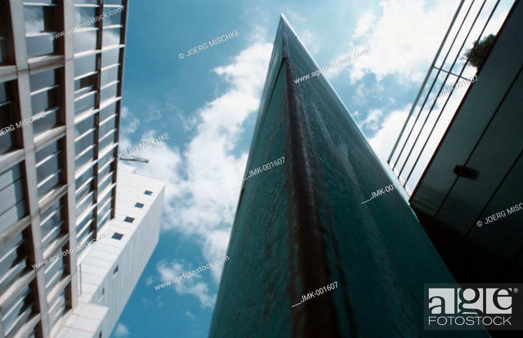 Stock Photo: Facades of a modern office blocks, office buildings.