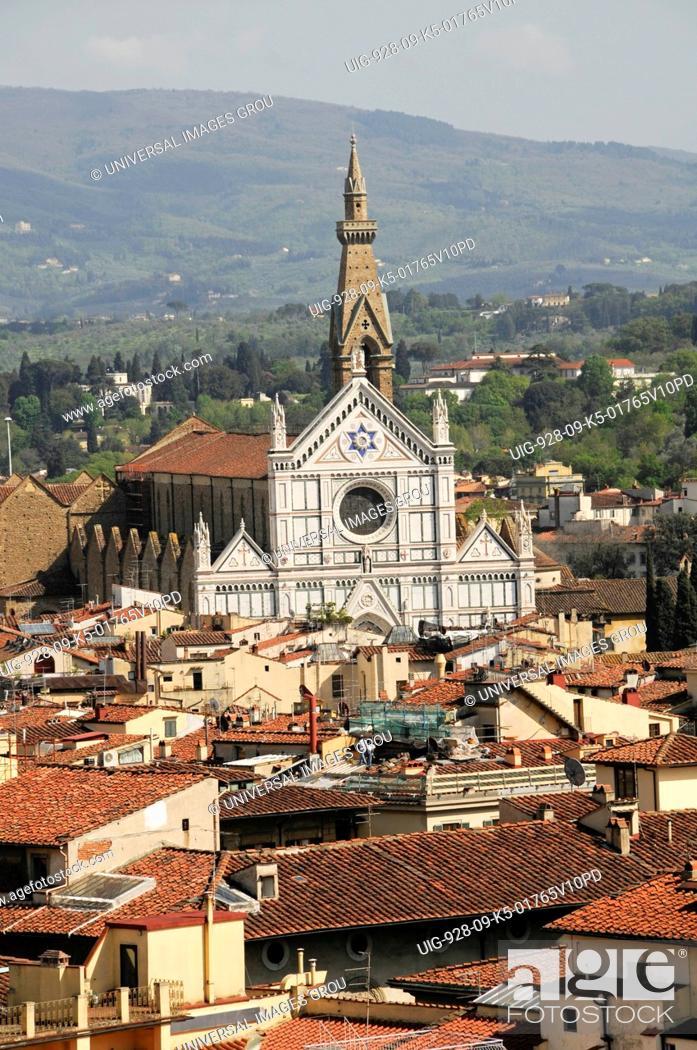 Stock Photo: Santa Croce Church, Florence, Italy.