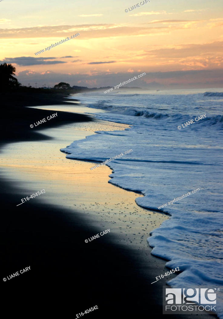 Stock Photo: Beach sunrise, costa rica.