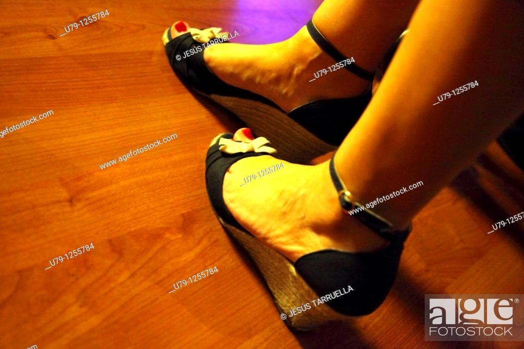 Stock Photo: Detail of woman's feet dancer of Rock and Roll.