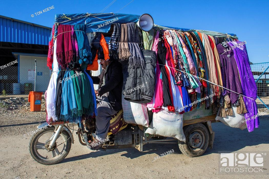 Stock Photo: small business in refugee camp in Northern Iraq.