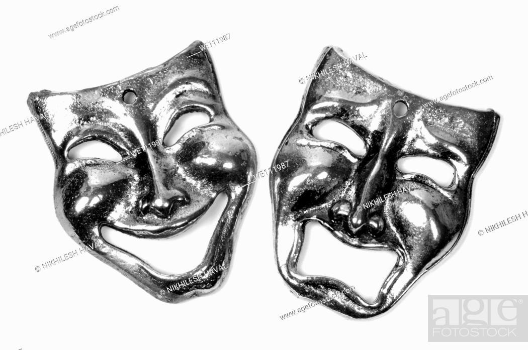 Stock Photo: Comedy Tragedy masks - Symbollic representation of Theatre or drama.