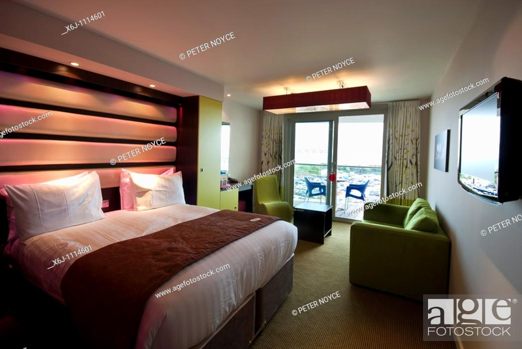 Stock Photo: family bedroom of double and twin beds Ocean Hotel, Butlins Bognor Regis.