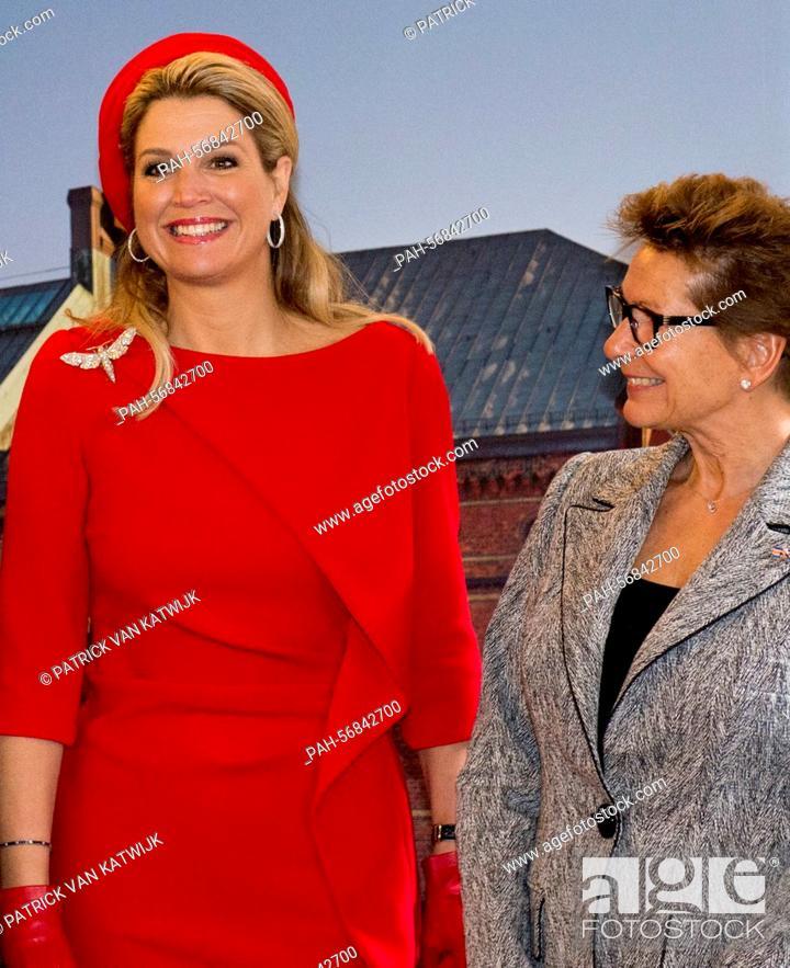 helle n Farbe großer Verkauf online zu verkaufen Queen Maxima of The Netherlands and Janine van den Ende ...