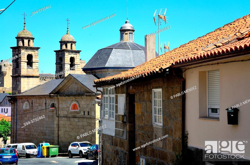 Stock Photo: Church of Nosa Señora dos Remedios, Castro Caldelas, Orense, Spain.